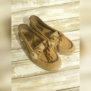 Sperry Gold Top Sliders